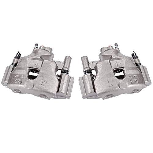 Callahan CCK04444 [2] FRONT Premium Semi-Loaded Original Brake Caliper Pair + Hardware [ fit 2003-2005 Mazda 6 ]