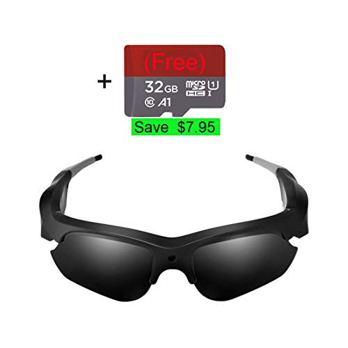 Camera Video Sunglasses,1080P Full HD Video Recording Camera with 32GB Built-in Memory,Camera Glasses (Best Fishing Camera 2019)
