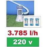 Bomba Filtrante Piscina Intex 3785 L/H 220v + 03 Filtros (2 + 1)