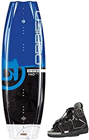 O'Brien System Wakeboard with Clutch 11-14 Bindings, 1