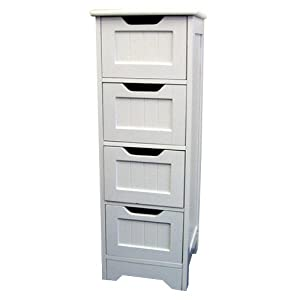 Tongue and Groove Bathroom Storage Drawers - White: Amazon