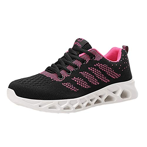 OrchidAmor Fashion Women's Mesh Breathable Sneakers Casual Shoes Student Mesh Breathable Running Shoes 2019 Summer Swag Shoes Hot Pink (Red Tube Brille)