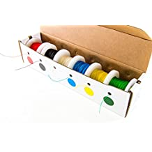 Electronix Express 27WK30WWR100 Solid 30 Gauge Wire Wrap, Kynar Insulated Wire Kit with 6-100' Spools