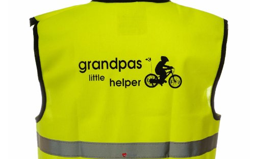 Kids Yellow Hallo-Vis Warnweste grandads Little Helper Option Kleine