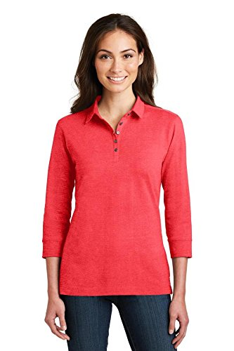 Port Authority Ladies 3/4-Sleeve Meridian Cotton Blend Polo-L578-M