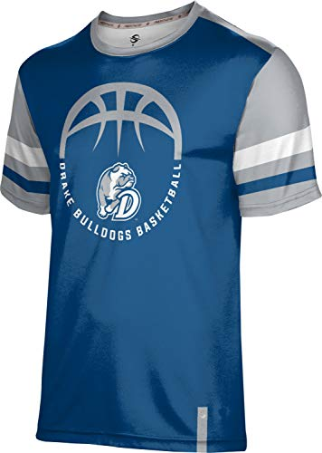 ProSphere Drake University Basketball Boys' Performance T-Shirt (Old School) 1003D Blue and Gray