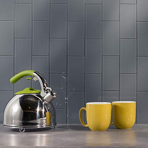 Aspect Peel and Stick Backsplash Storm Cloud Glass Tile for Kitchen and Bathrooms (15 sq ft Kit)