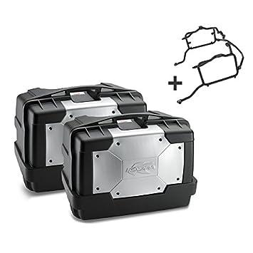 Juego de maletas laterales Set Honda CB 500 X 13-16 Kappa Monokey KGR46 negro: Amazon.es: Coche y moto