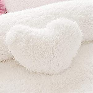 MOOWOO Fluffy Heart Throw Pillow with Pillow Cover and Insert, Shaggy Faux Fur, Decorative Design for Indoor and Outdoor…