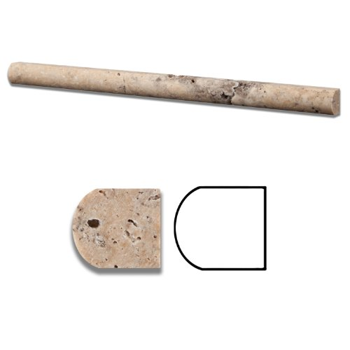 Philadelphia Travertine Honed 3/4 X 12 Bullnose Liner - Standard Quality - BOX of 15 PCS