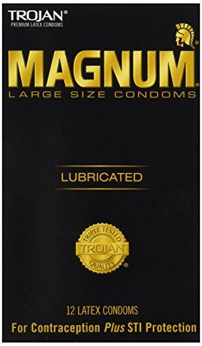 Trojan Lubricated Condom, Magnum, Large, 12-Count