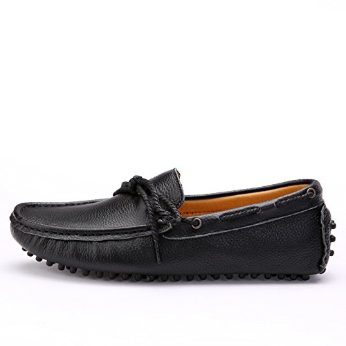 Salabobo QYY-2089 New Mens Stylish Casual Loafers Slip-on Moccasins Driving Shoes Black YR11Fl1v