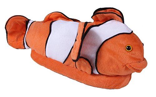 Happy Feet 9023-3 - Clown Fish - Large Animal Slippers ()