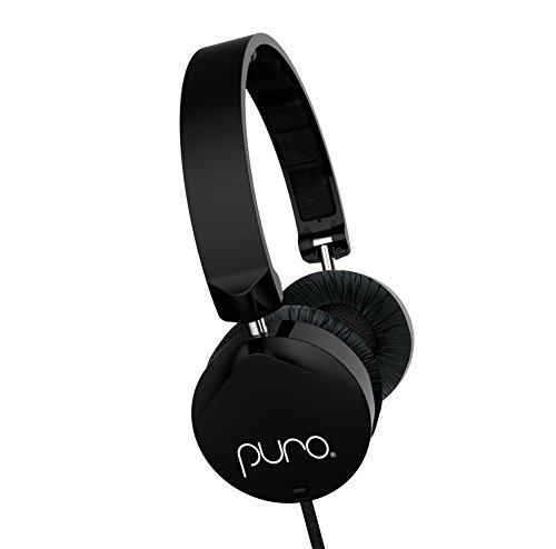 Puro Sound Labs OEH200 On-Ear Headphones Kids Students Foldable Earphones with Volume Limiting, Noise Isolation, Microphone, Lightweight and Water-Proof - OEH200 Black