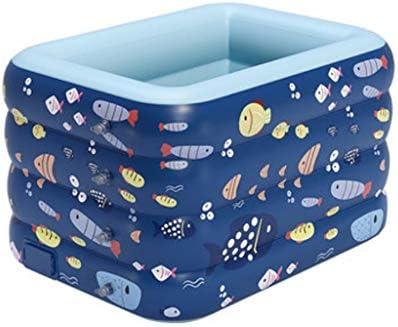 インフレータブルバスタブ家庭用折りたたみ式屋内プール子供用肥厚インフレータブルバスタブ屋内スイミング新生児用インフレータブルバスタブ 浴室用設備 (Color : Blue, Size : 140*110*75cm)