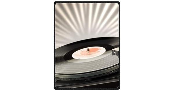Música de alta calidad forro polar manta de viaje con tocadiscos ...
