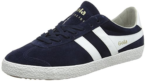 Gola Women's Specialist Sneaker,Navy/White Suede,US 7 M