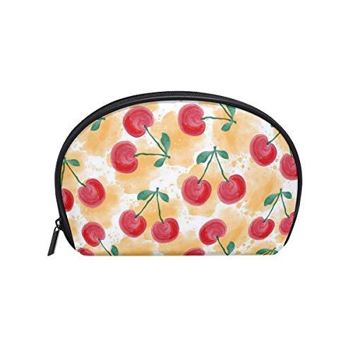 Makeup Bag Yellow Red Cherry Girls Travel Cosmetic Bag Womens Toiletry Organizer