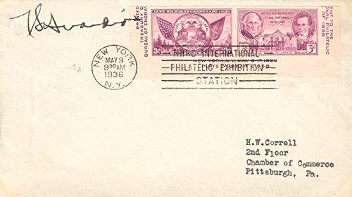 Mayor Fiorello Laguardia Envelope Signed Circa 1936