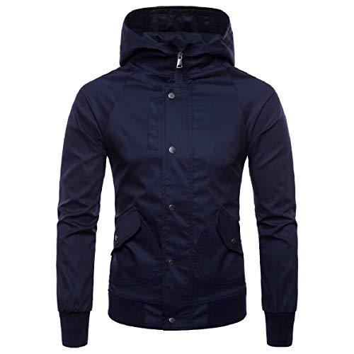 Inverno Blu Autunno Plus Dimensioni Degli Pelo Sottili Di Corto Giacche Rkbaoye Navy Uomini Premium Cotone wAqPg