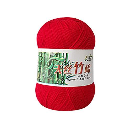 Clearance Sale! Yarns for Knitting Crochet Craft,KFSO Hand Knitting Knicker Bamboo Cotton Yarn Crochet Soft Scarf Sweater Hat Yarn Knitwear Wool (L) ()
