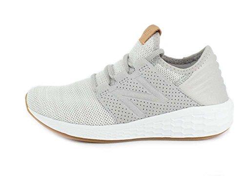 New Balance Women's Fresh Foam Cruz V2 Deconstructed Running Shoes Rain Cloud/White Munsell 5E0dQaIZvl