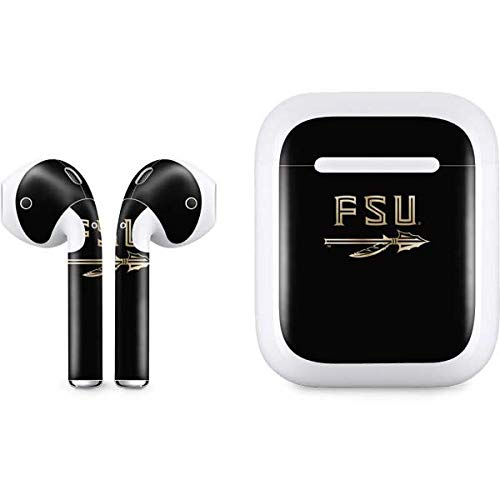 (Skinit FSU Spear Logo Apple AirPods Skin - Officially Licensed College Audio Decal - Ultra Thin, Lightweight Vinyl Decal Protection)
