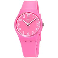 No other watch brand has stood the popularity test of time quite like Swatch This Pinkway pink watch speaks tractability with a touch of elegance and style The popular plastic pink case and pink silicone band combo will work with every outfit...