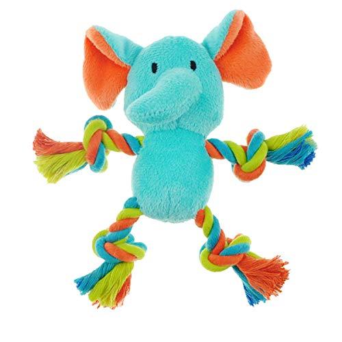 Mini Safari Tug Me Pals Dog Toys Squeak Plush Rope 7