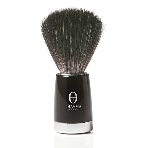 Black Fibre Shaving Brush with Bonus Ceramic Crucible Mug - Made in Germany Provides Excellent Shave