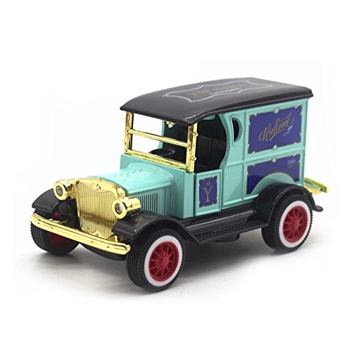 LW Model T Vintage Cars Retro Style 1:32 Scale Diecast car Model Collection Light&Sound (Light Green)