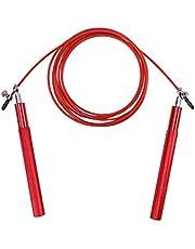 VORCOOL Cuerda de salto deportivo Cuerda de salto de saltador de cable de acero ajustable con 360 grados Rodamientos de bolas de spinning para Crossfit Unders doble Boxeo MMA Fitness Saltar entrenamiento de entrenamiento (rojo)