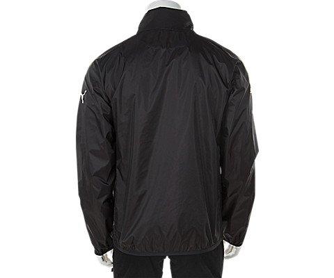 PUMA Men's Rain Jacket, Large, Black-White