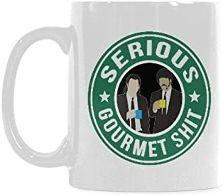 Serious Gourmet Shit Coffee Mug Funny Coffee Cup Ceramic Tea Cup 11oz