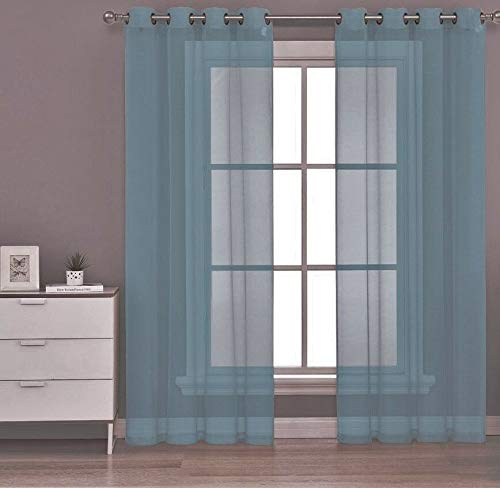 DN_MON 1PC Grommet Solid Panel Window Curtain Treatmen Drape New Decor (Size 63