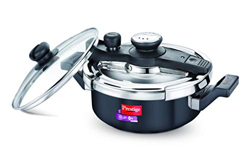 Prestige Svachh, 20241, 3 L, Hard Anodised Pressure Cooker, with deep lid for Spillage Control Price & Reviews
