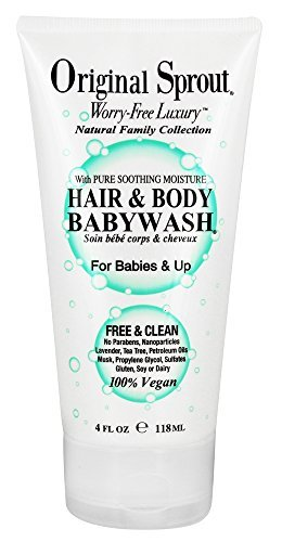 Original Little Sprout Hair & Body Baby Wash, 4 Ounce