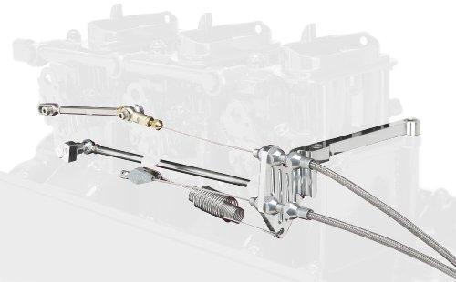 et Aluminum Bracket/Spring with Progressive Linkage Rod for Edelbrock Carburetor (Carburetor Linkage)