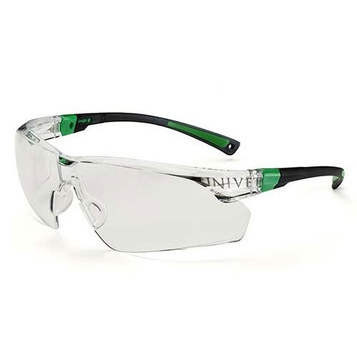 Practicon 7113029 GRE 506 UP Clear Safety Glasses, White/Green