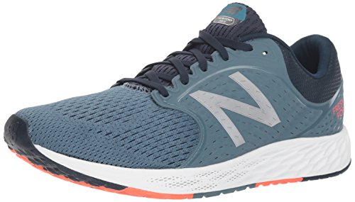 New Balance Men Fresh Foam Zante V4 Neutral Running Shoes Blue (Petrol/Galaxy/Flame Pc4)