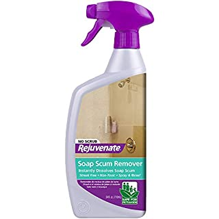 Rejuvenate Scrub Free Soap Scum Remover Shower Glass Door Cleaner 24oz Works on Ceramic Tile, Chrome, Plastic and More