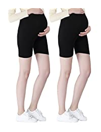 Liang Rou Maternity Thin Spandex Short Safety Leggings Black