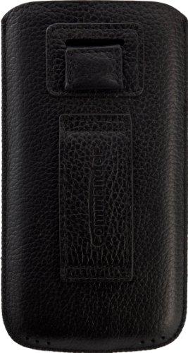 Commander 13752 Men und Boyz Litchi Leder Case für Apple iPhone 4/4S/5/5C/5S Größe M schwarz