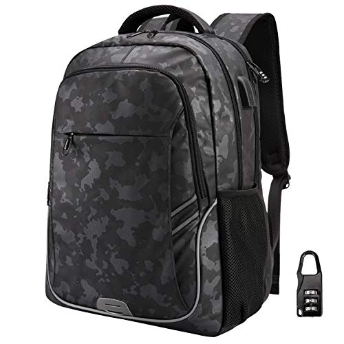 Netchain College School Backpack for Women Men Slim Business Travel Laptop Backpack, RFID Blocking Bag Anti Theft Backpack with USB Charging Port
