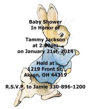 Good Personalized Beatrix Potter Peter Rabbit Baby Shower Invitations