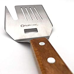 Flipfork Grill Spatula Bbq Accessory For Grilling Bbq Tools Grill Bbq Accessories For Men Stainless Steel Spatula Fork Tenderizer Bottle Opener And Knife For Grilling Indoor And Outdoor