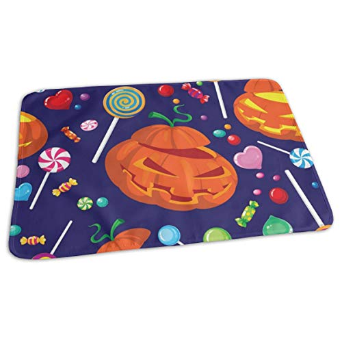 Pomduct Seamless Halloween Candy Vector Image Love Personalized Diaper Replacement Pad Waterproof Newborn Soft Strong Absorption Unisex -