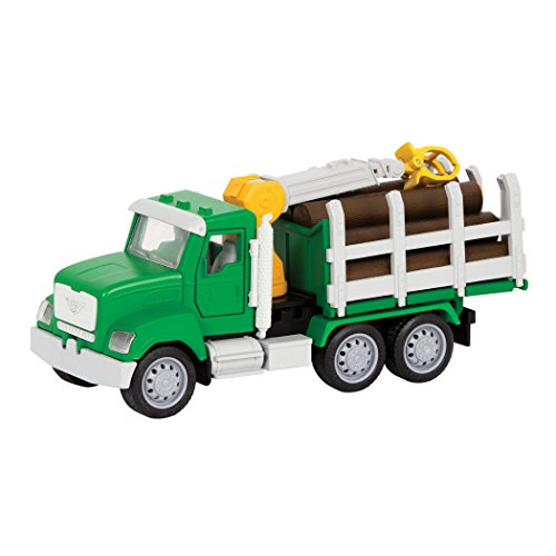 DRIVEN by Battat - Micro Logging Truck - Toy Logging Truck with Lights, Sounds and Movable Parts, for Kids 4+