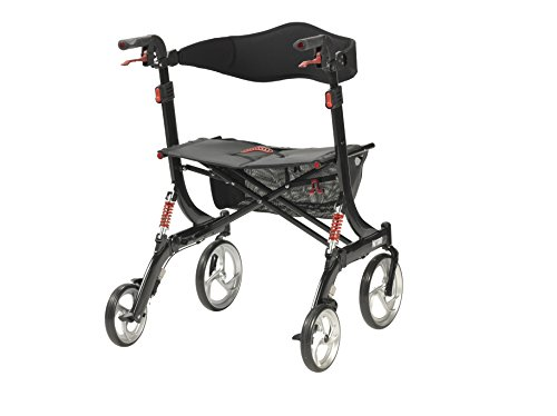 Drive Medical Heavy Duty Nitro Euro Style Walker Rollator, Black by Drive Medical (Image #3)
