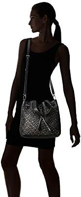 Liebeskind Berlin Women's Topeka Leather Snakeskin Handwoven Bucket Bag